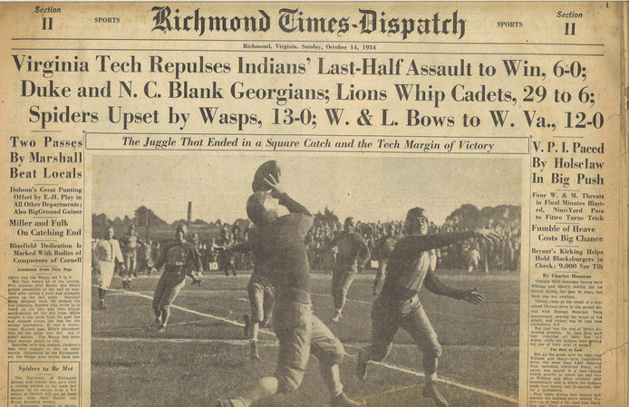 1934 Richmond Times VPI/W&M