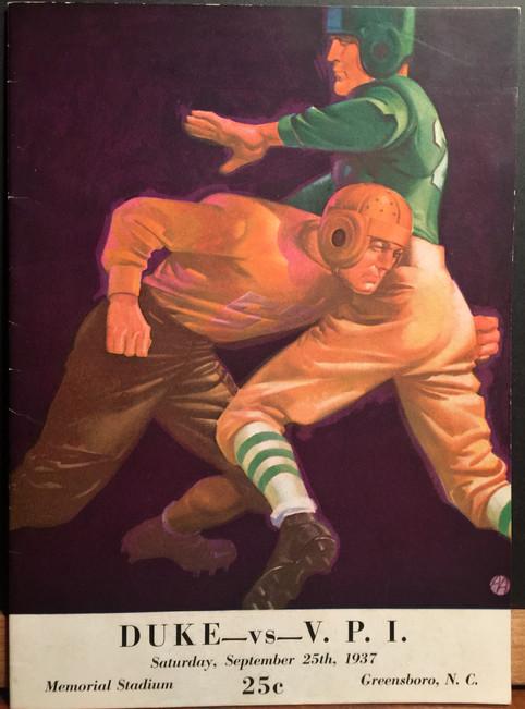 Antique VPI Duke football program