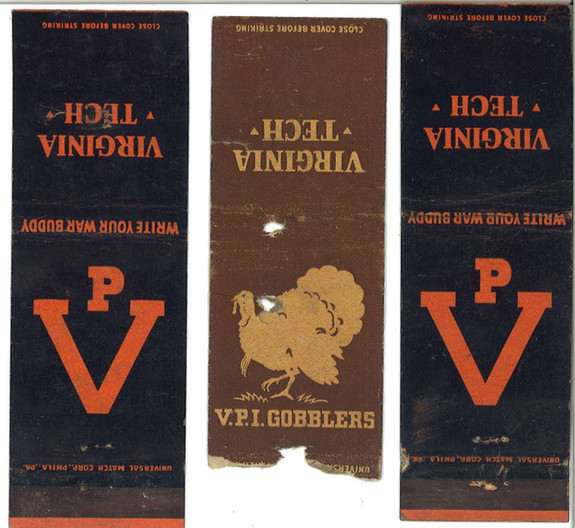 1943 Matchbook covers