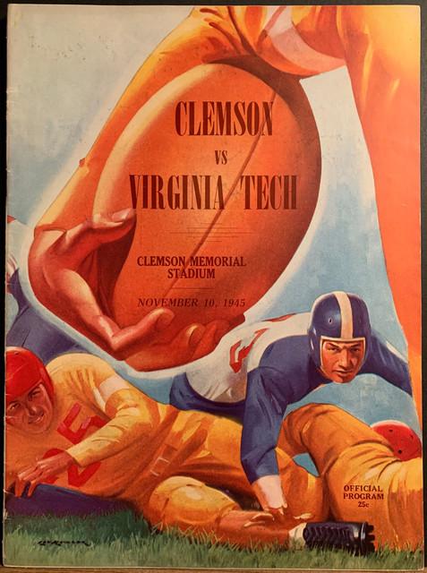 Antique Clemson Football program