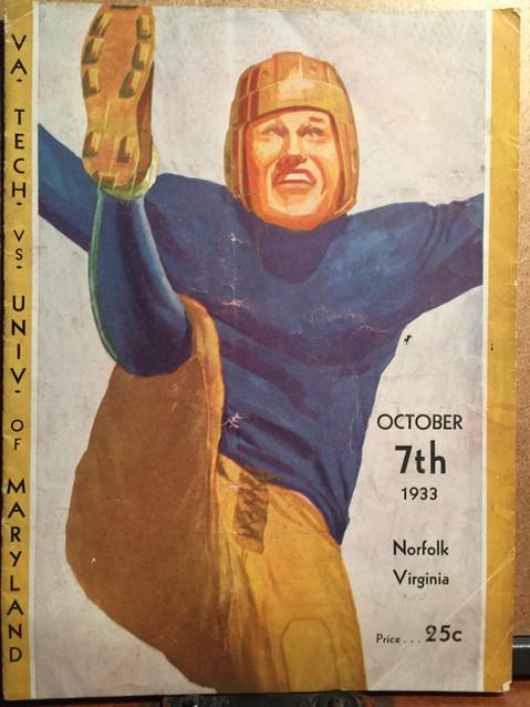 Antique VA Tech football program