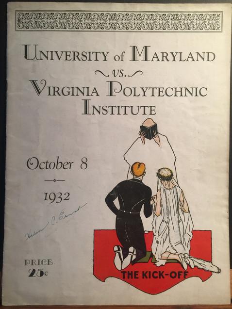 Antique Virginia Polytechnic football