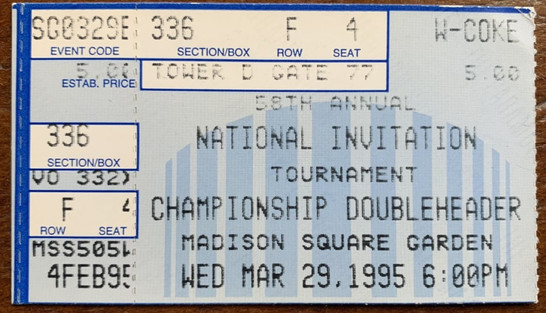 1995 NIT Championship game vs Marquette