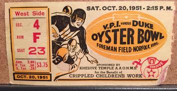 1951 Oyster Bowl vs Duke