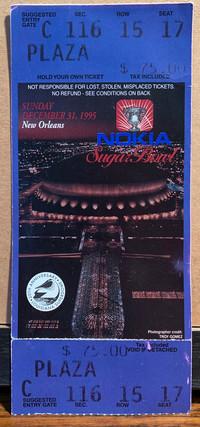 1995 Sugar Bowl Ticket vs Texas