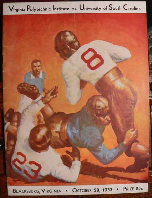 Antique VPI USC football program