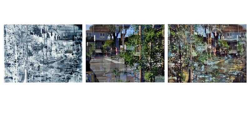 Sidewalk Channel (Triptych)
