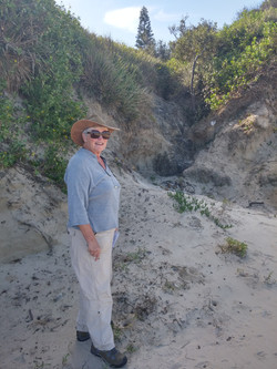 20160506_140411_HDR Barbara showing dune erosion from uncontrolled drainage from land side of beach