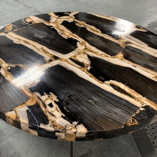 PETRIFIED WOOD ROUND TABLE TOP