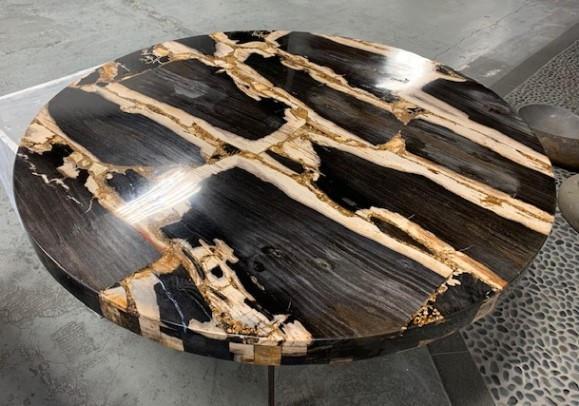 PETRIFIED WOOD ROUND TABLE