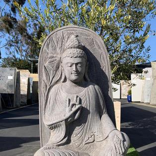 BUDDHA LAVA STONE STATUE