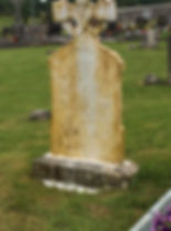 Connaught Property Services Cemetery Headstone Softwash Before