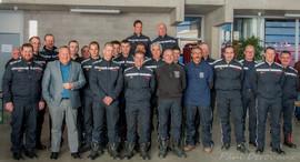 Avec les pompiers de Theux