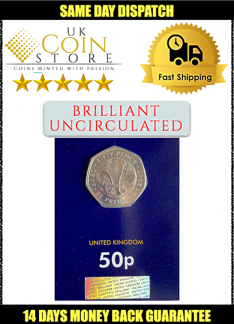 Brilliant Uncirculated 50 Pence Fifty Pence Scouting 2007 - BU