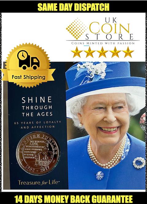 £5 Brilliant Uncirculated Coin - Queen Sapphire Jubilee 2018