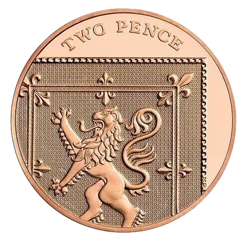 2p Two Pence Royal Shield 2012 - Circulated