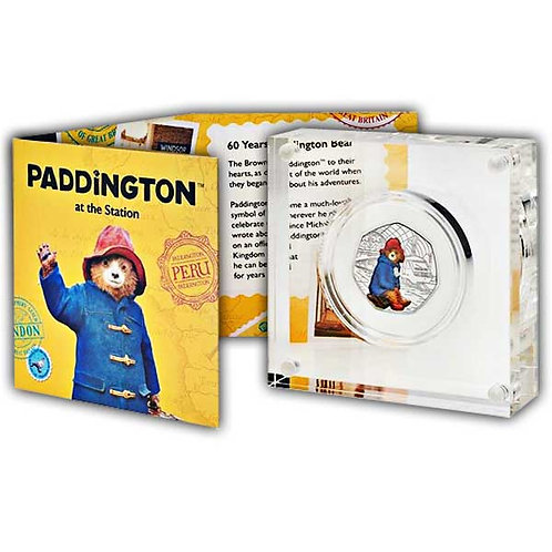 Paddington at the Station 2018 UK 50p Silver Proof Coin