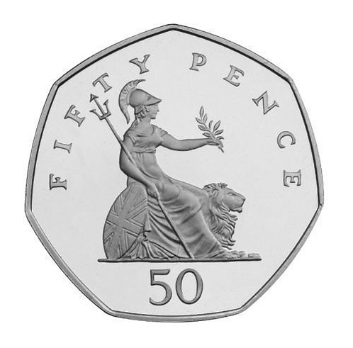 50p Britannia 1998  Fifty Pence - Circulated
