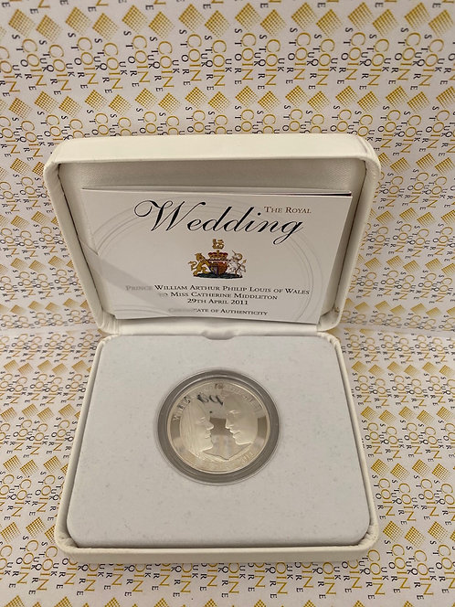 2011 Royal Wedding William Kate £5 Five Pound Silver Proof Coin Box Coa