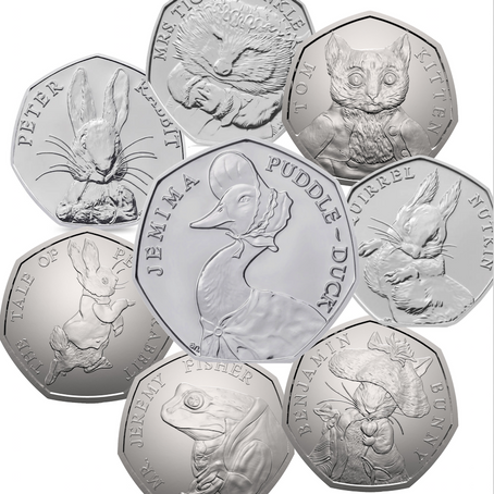 50 Pence - Beatrix Potter Collection