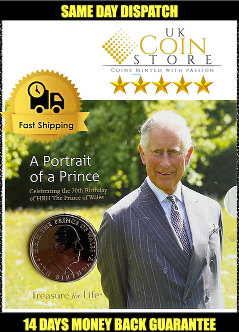 £5 Brilliant Uncirculated Coin -The 70th Birthday of the Prince of Wales 2018 UK