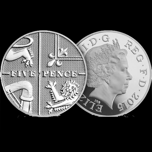 5p Five Pence Royal Shield 4th Portrait 2015 - Circulated