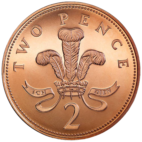 2p Two Pence 1987 - Circulated