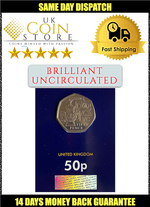Brilliant Uncirculated 50 Pence Fifty Pence Victoria Cross Winners 2019 - BU