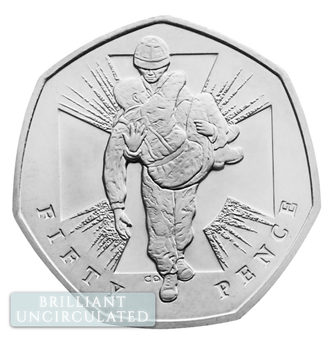 Brilliant Uncirculated 50 Pence Fifty Pence Victoria Cross Soldier 2019 - BU