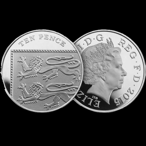 10p Ten Pence Royal Shield 4th Portrait 2015 - Circulated