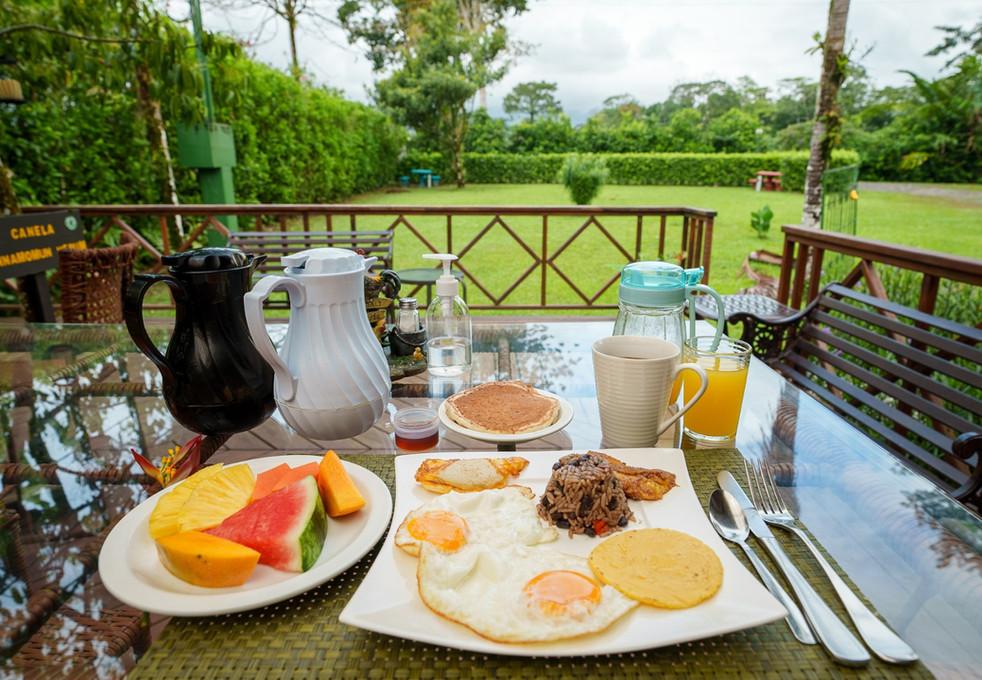 Eco Arenal breakfast