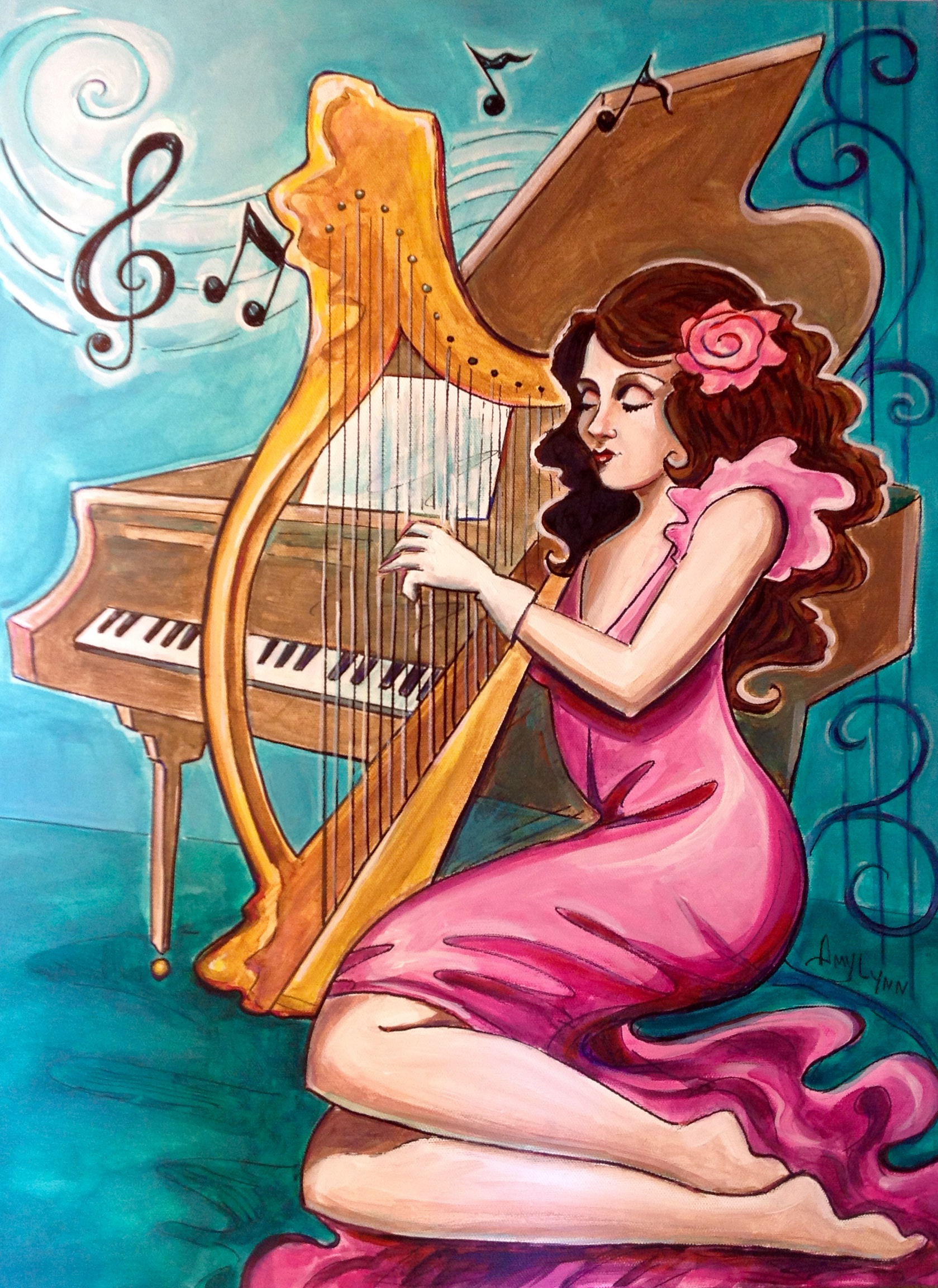 Lady and the Harp