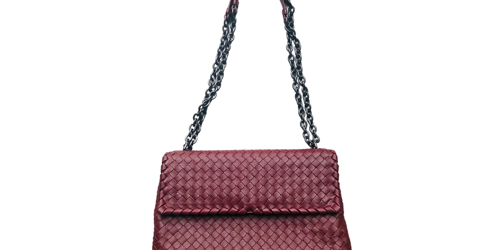 Bottega Veneta Large Olimpia Bag In Intrecciato Nappa