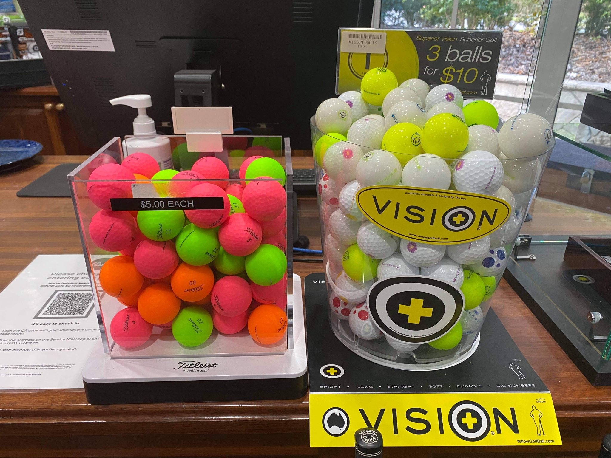 Titleist and Vision Golf Balls