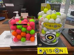 Titleist and Vision Golf Balls