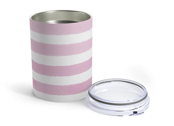 Baby Pink Watercolor Stripe Tumbler 10oz