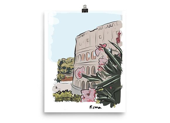 Roman Colosseum Giclée Print ~ Rome Art Print ~ Italy Wall Print