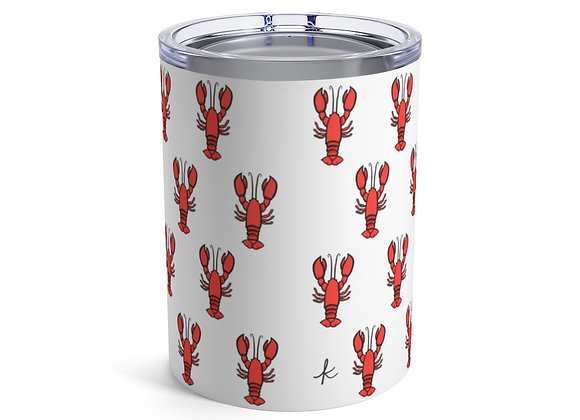 New England Lobster Pattern Tumbler 10oz