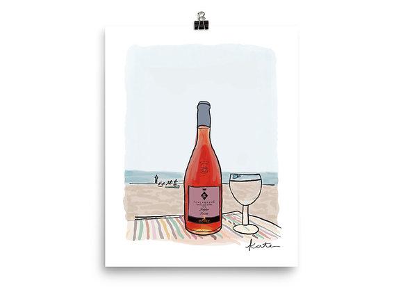 Rosé All Day Illustration Print