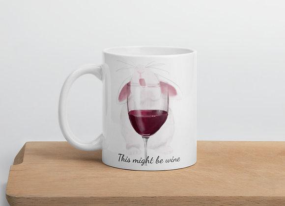Wine O'Clock Bunny Mug