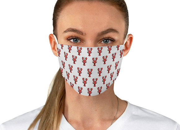 New England Lobster Pattern White Background Fabric Face Mask
