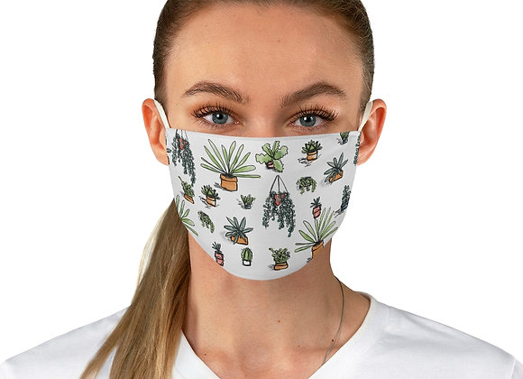 Succulent Cactus Pattern Fabric Face Mask