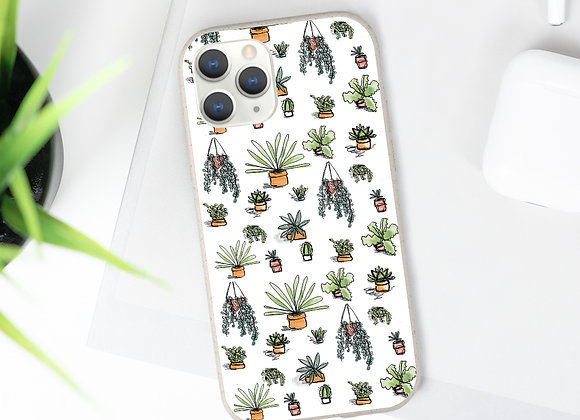 Succulent Biodegradable Biodegradable Phone Case - White Background