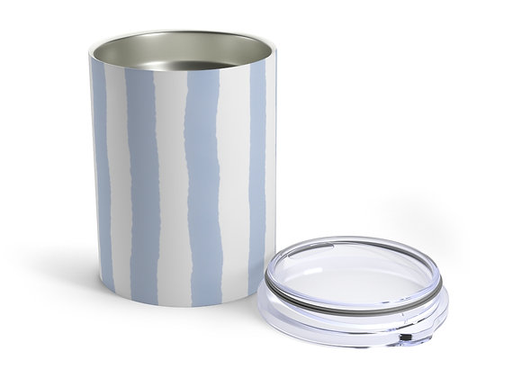 New England Blue Watercolor Stripe Tumbler 10oz