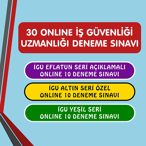 İGU 30 ONLINE DENEME SINAVI SETİ