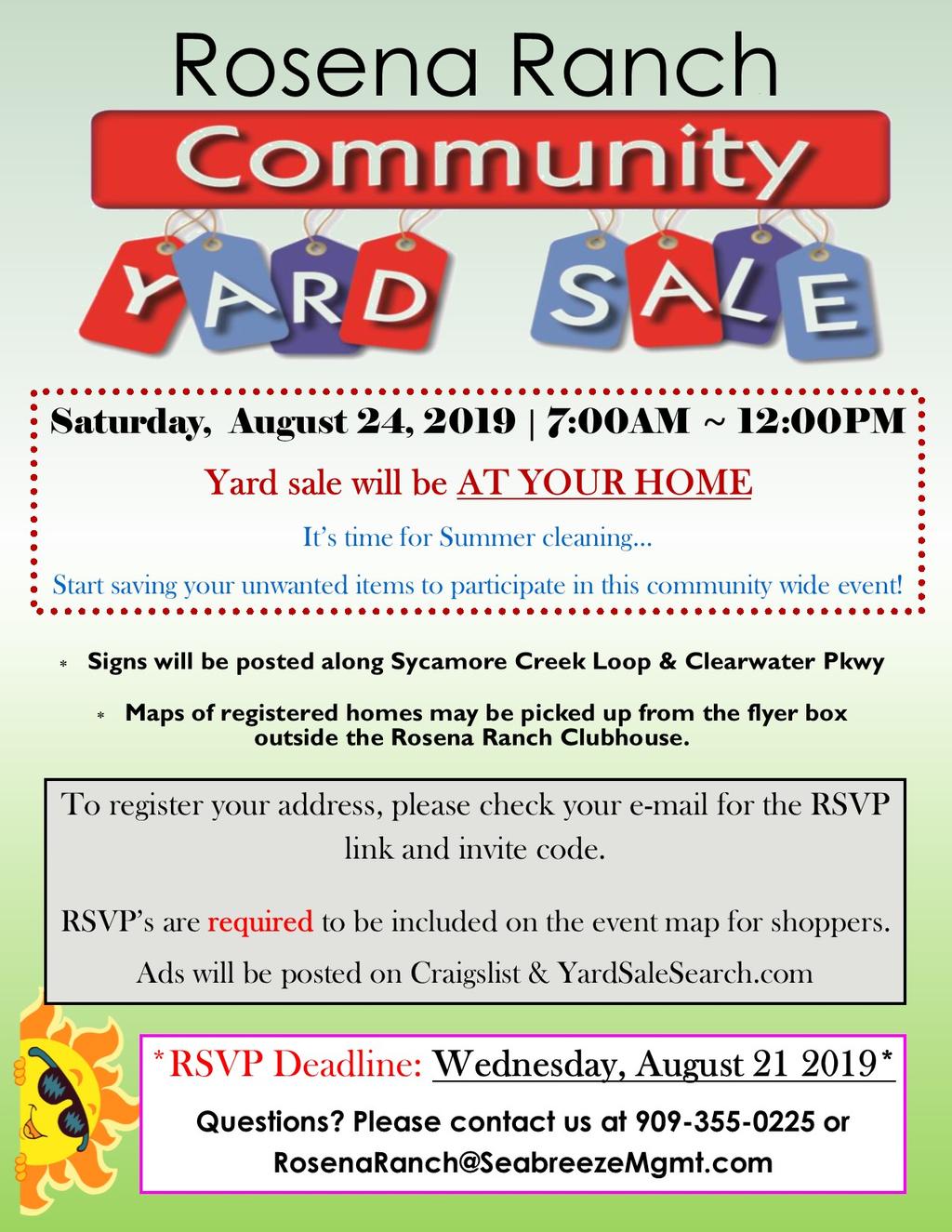 Summer Yard Sale 2019