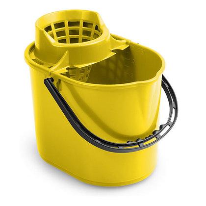 Ведро Pit с отжимом 12 л желтое