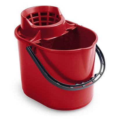 Ведро Pit с отжимом 12 л красное