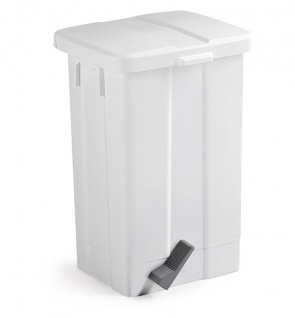 Ведро мусорное с педалью TTS 25 л белое