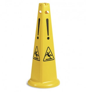 """Пирамидальный знак """"Осторожно мокрый пол"""""""